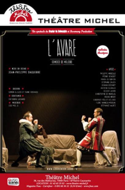 affiche-l-avare-theatre-michel